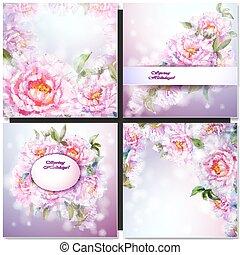 Un conjunto de flores