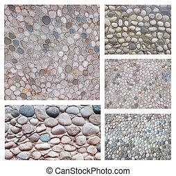 Un conjunto de fondo de piedra abstracta