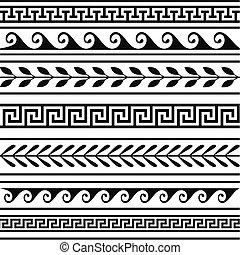 Un conjunto de fronteras geométricas griegas