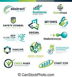 Un conjunto de iconos abstractos