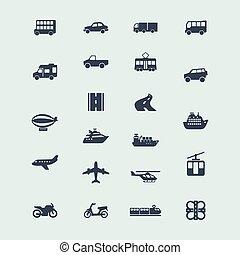 Un conjunto de iconos