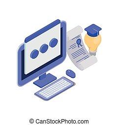 Un conjunto de iconos con pantalla de ordenador