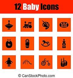 Un conjunto de iconos de bebés