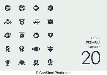 Un conjunto de iconos de calidad premium