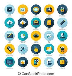 Un conjunto de iconos de diseño moderno