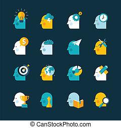 Un conjunto de iconos de diseño plano