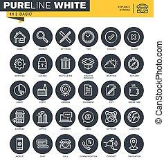 Un conjunto de iconos de línea universal