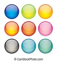 Un conjunto de iconos de la esfera de la red