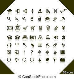 Un conjunto de iconos de la red.