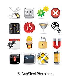 Un conjunto de iconos de la red