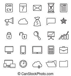 Un conjunto de iconos de negocios planos