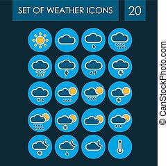 Un conjunto de iconos del tiempo para la interfaz