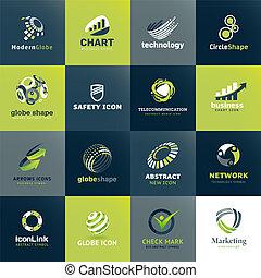Un conjunto de iconos para los negocios