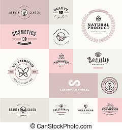 Un conjunto de iconos planos para la belleza