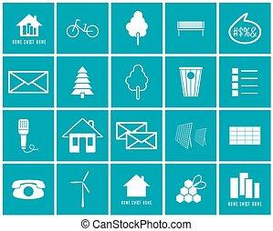 Un conjunto de iconos vectoriales del medio ambiente