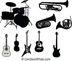 Un conjunto de instrumentos musicales