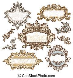 Un conjunto de marcos antiguos reales