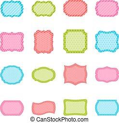 Un conjunto de marcos coloridos, ilustración vectorial