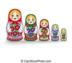 Un conjunto de muñecas para anidar