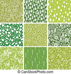 Un conjunto de nueve patrones ecológicos de fondo