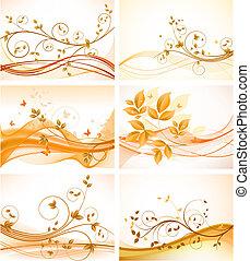 Un conjunto de orígenes abstractos florales