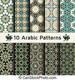 Un conjunto de patrones árabes sin costura.