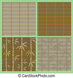 Un conjunto de patrones de bambú