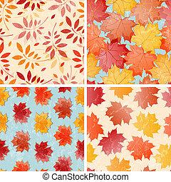 Un conjunto de patrones de otoño sin fisuras.