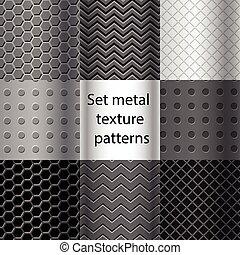 Un conjunto de patrones de textura de metal sin costura