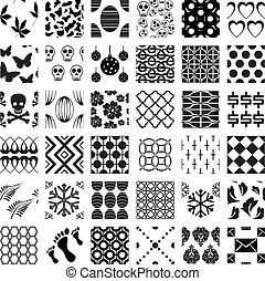 Un conjunto de patrones geométricos monocromáticos