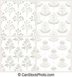 Un conjunto de patrones sin costura con flora australiana