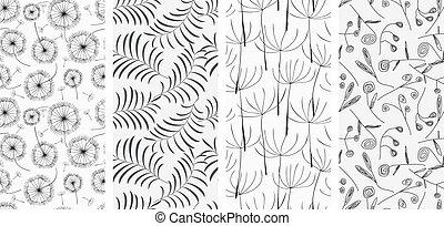 Un conjunto de patrones sin costura de fondo.