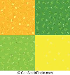 Un conjunto de patrones sin costura de primavera