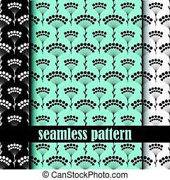 Un conjunto de patrones sin costura. Vector.