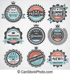 Un conjunto de placas de calidad premium