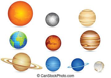 Un conjunto de planetas