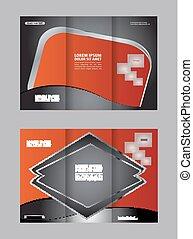 Un conjunto de plantilla de folletos triple