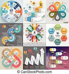 Un conjunto de plantilla fotográfica de negocios. Puede usarse para diseño de flujo de trabajo, pancarta, diagrama, opciones de número, diseño web, elementos de línea temporal