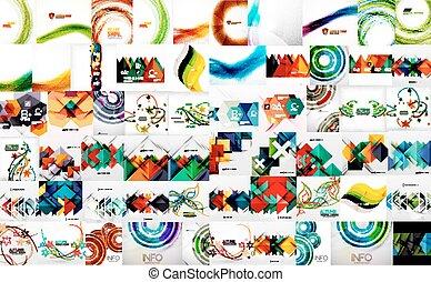 Un conjunto de plantillas de ondas de colores brillantes