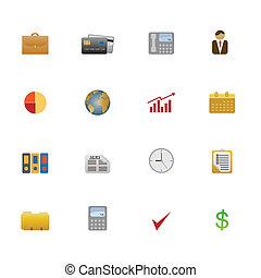 Un conjunto de símbolos de negocios