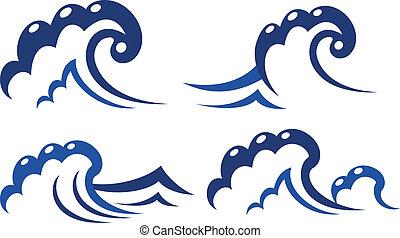Un conjunto de símbolos de onda