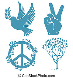 Un conjunto de símbolos de paz