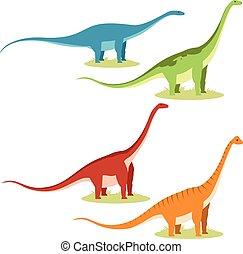 Un conjunto de saurópodos