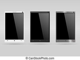 Un conjunto de smartphones modernos