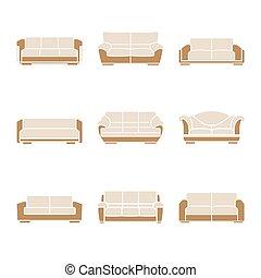 Un conjunto de sofás con estilo