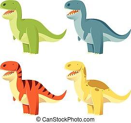 Un conjunto de T-Rex
