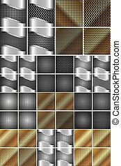 Un conjunto de textura de metal