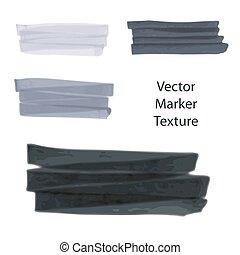 Un conjunto de textura marcada a mano, efecto acuarela, manchas para el diseño