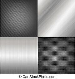 Un conjunto de texturas de metal