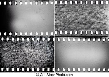 Un conjunto de texturas de películas